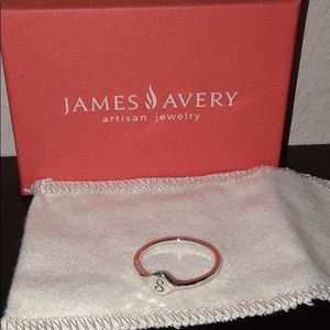 """James Avery sterling silver """"s"""" ring"""